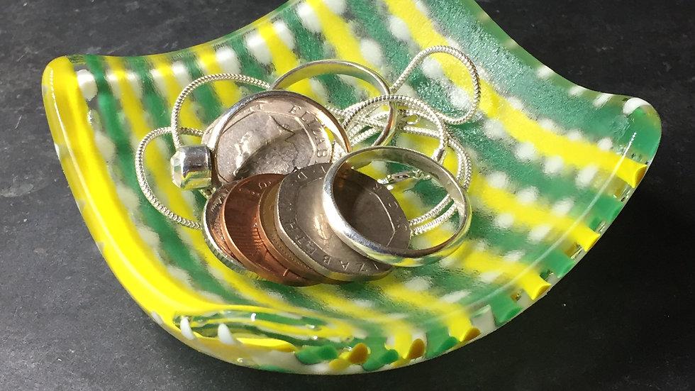 Green & Yellow Bubble Trinket Dish