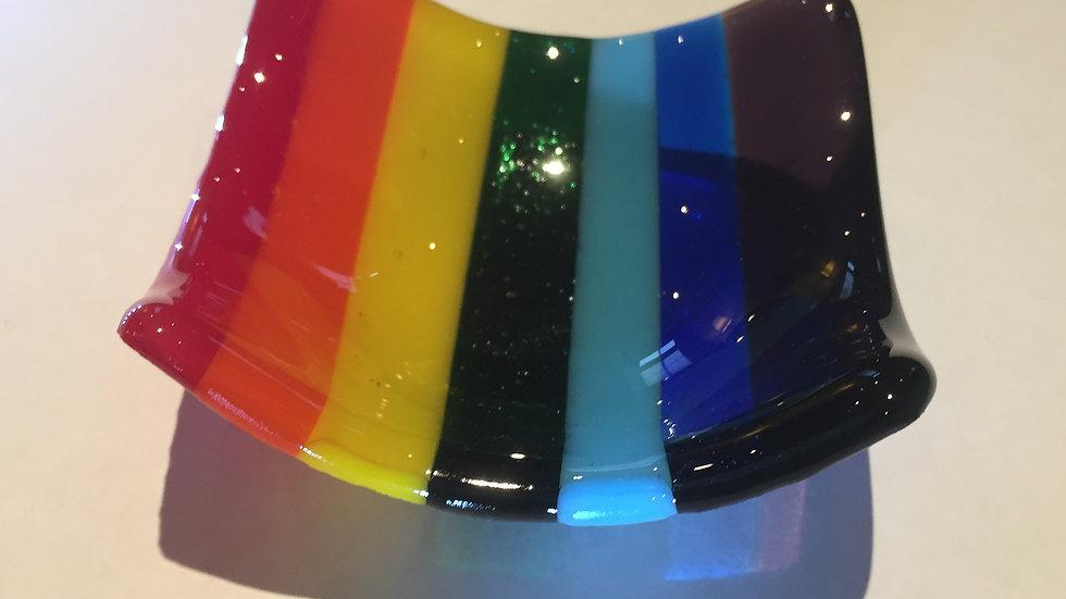 Rainbow Trinket dish 9cm x 9cm