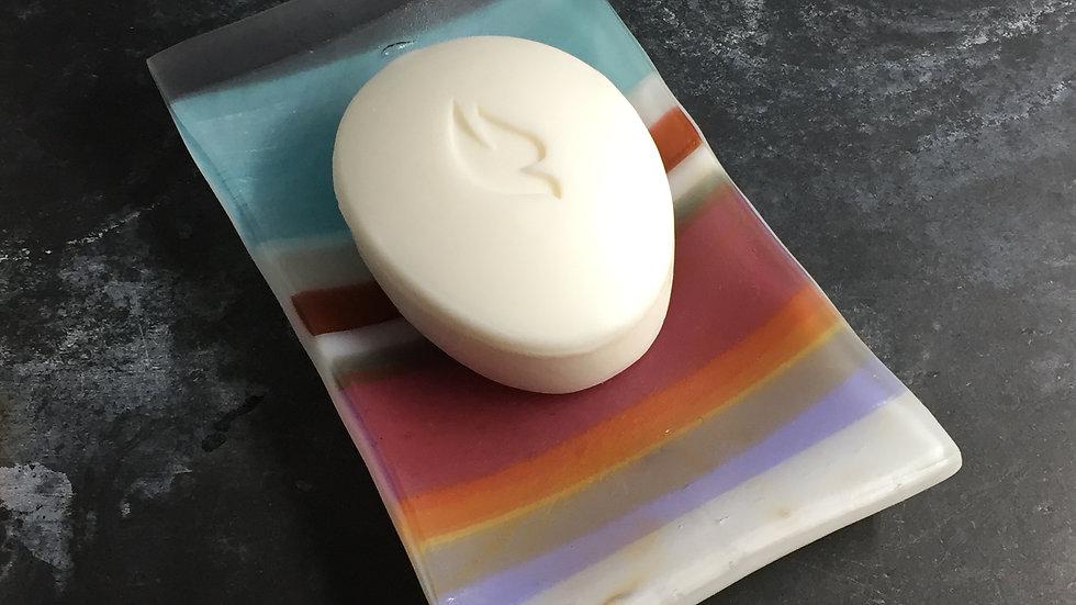 Stripy Soap Dish 15cm x 10cm