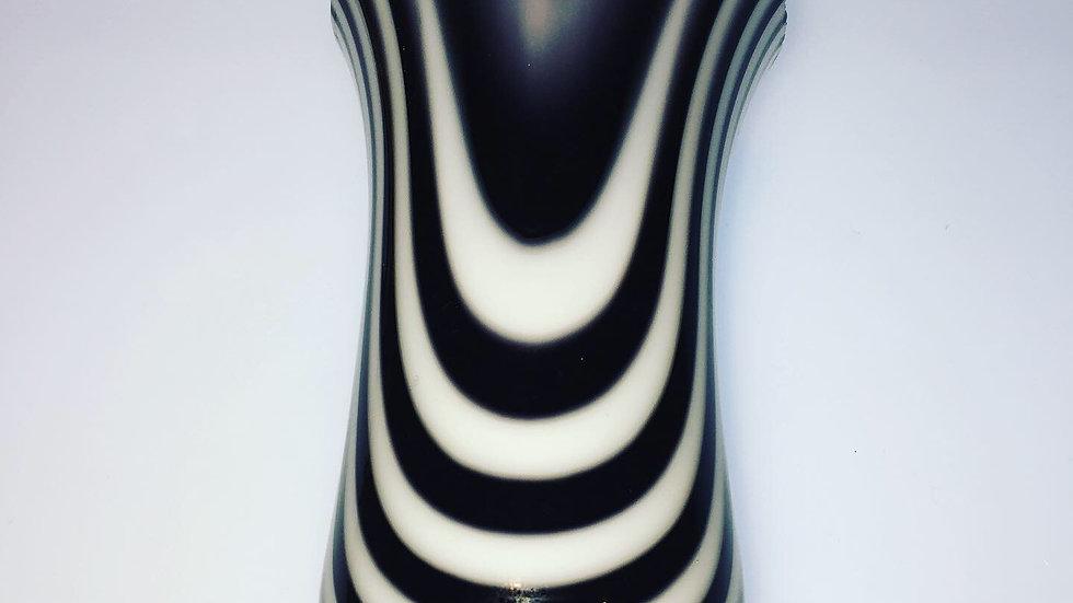 Zebra Drop Vessel/Bud Vase