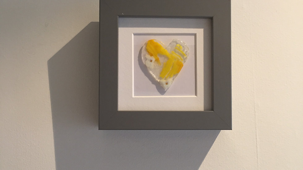 Summertime Heart Picture 10cm x 10cm