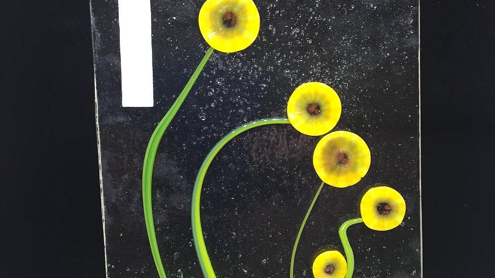 Sunflowers Door Fused Glass Panel
