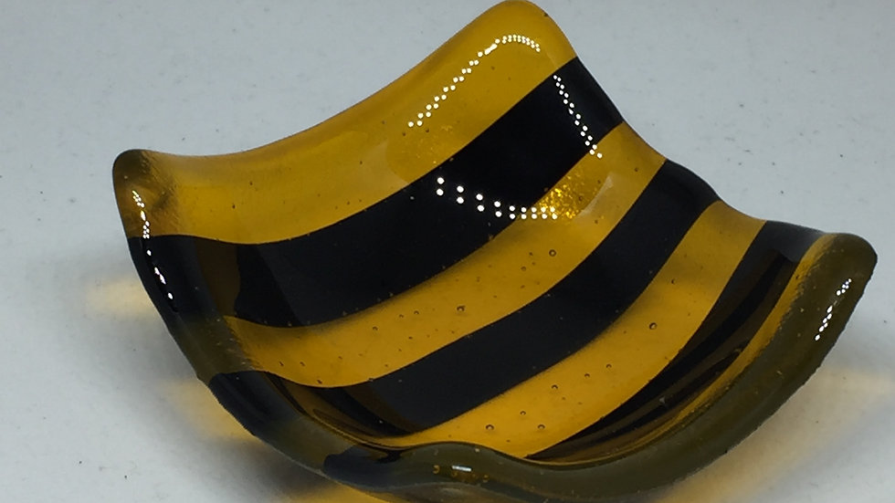 Transparent Bee Happy 9cm x 9cm