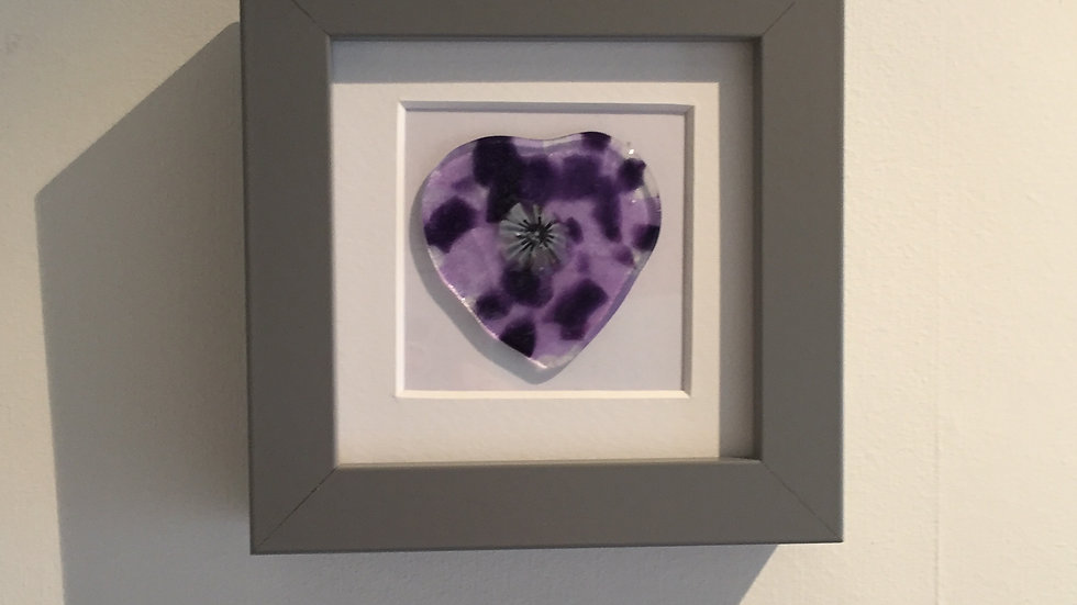 Purple and Lavender Heart Picture 10cm x 10cm