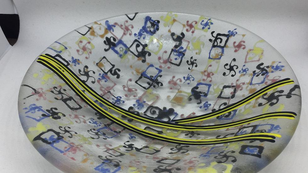 Doodle Round Bowl 17cm diameter