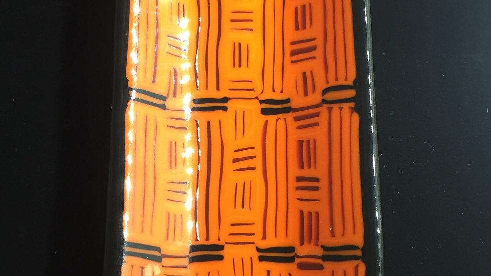 'Strip' Serving dish in orange 26cm x 11cm