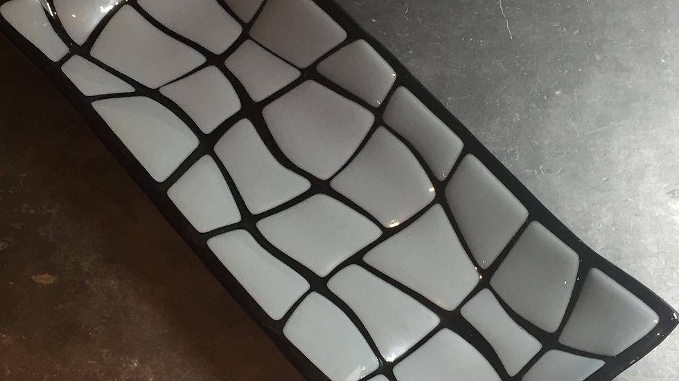 ''Broken' Elephant Grey Serving Dish 29cm x 12cm