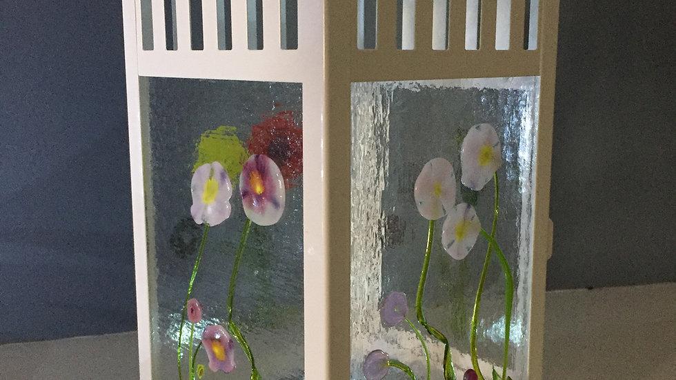 4 panel Floral Lantern