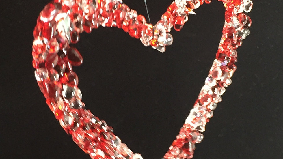 Fused Glass Heart Decoration