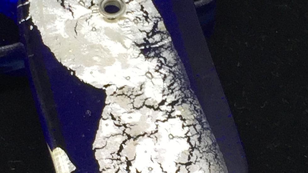 Glass & Silver Pendant