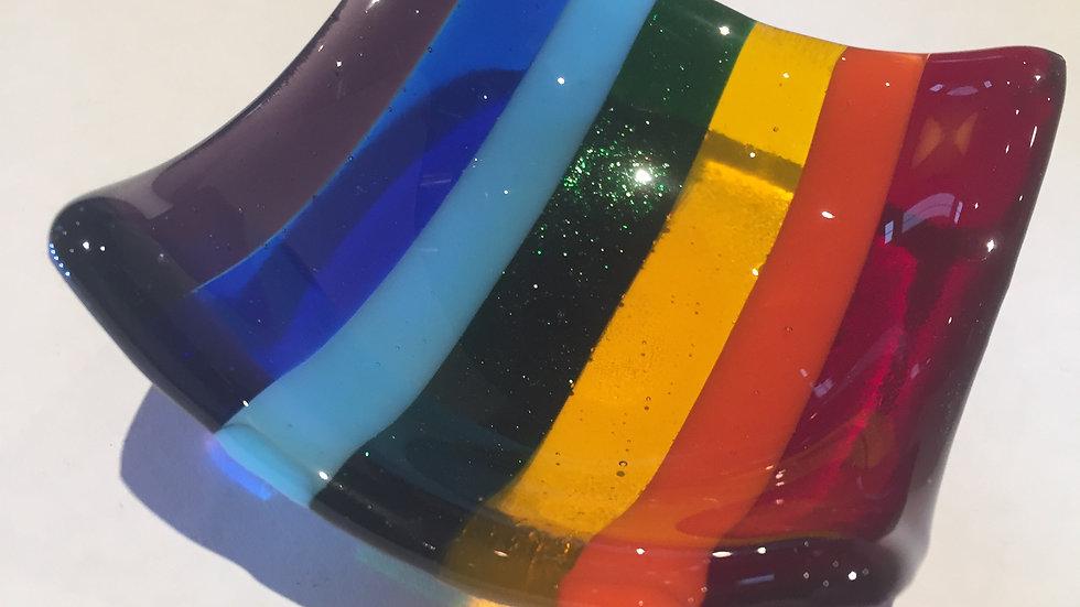 Rainbow Trinket dish 9cm x 9cm Rainbow Trinket dish 9cm