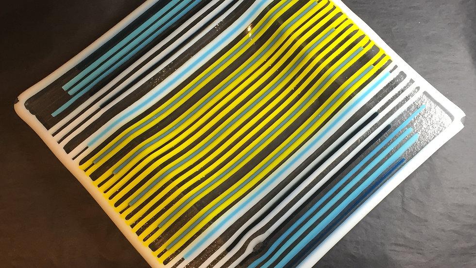 Stripy Square Dish 20cm x 20cm