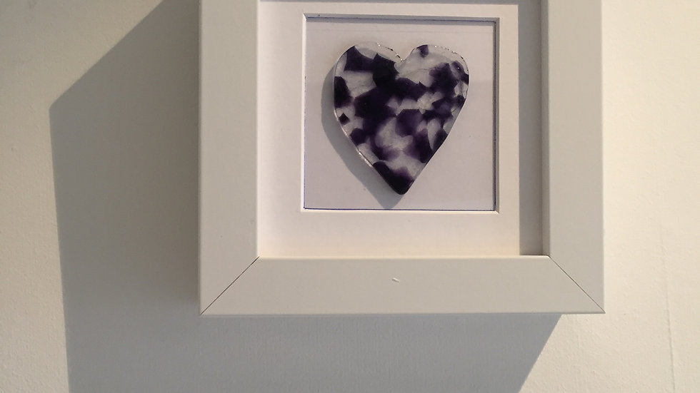Purple Heart Picture 10cm x 10cm