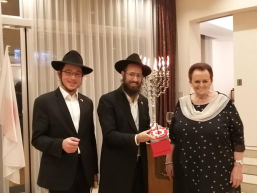 נרות חנוכה מקיוטו הודלקו בית שגריר ישראל