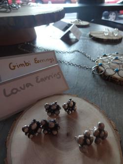 Birabiro Lava and Gimbi earrings
