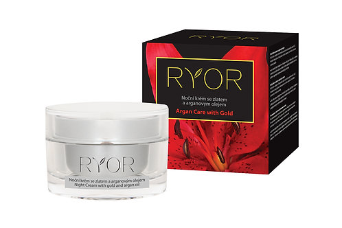 Night Cream with gold and argan oil