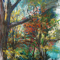 Brush with Nature Plein Air painting at the Skokie Sculpture Park