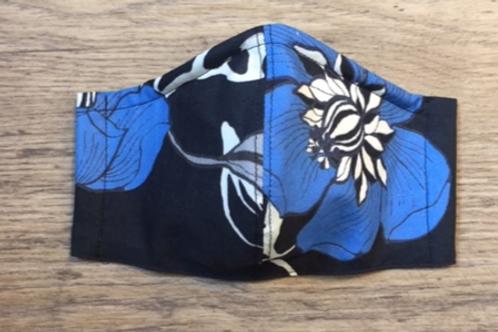 Schutzmaske Feld schwarz blau weiss