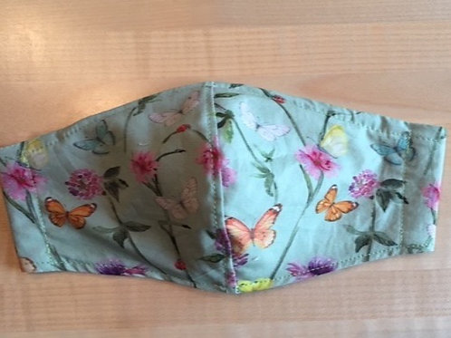 Schutzmaske Grün Schmetterling