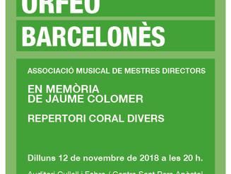 Orfeó Barcelonès en memòria de Jaume Colomer