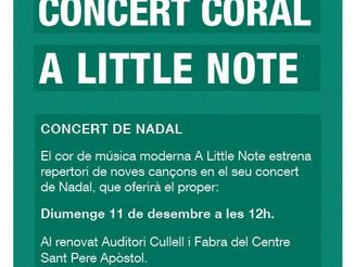 Concert de Nadal A Little Note