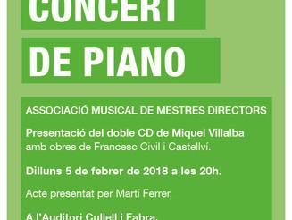 Miquel Villalba presenta disc al Centre