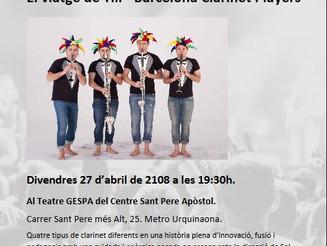 El viatge de Till, concert dels Barcelona Clarinet Players