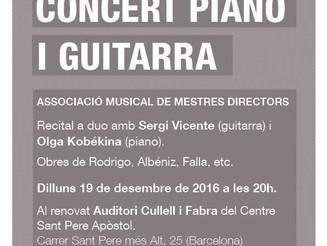 Recital a duo de guitarra i piano