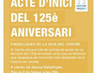 Acte d'inici del 125è aniversari