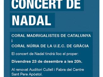 Concert de Nadal Coral Madrigalistes