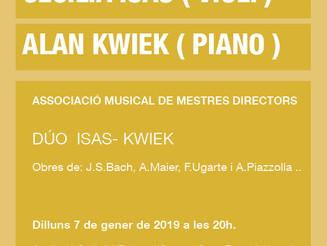 Cecília Isas (violí) i Alan Kwiek (piano)