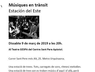 BCN Districte Cultural - Músiques en trànsit