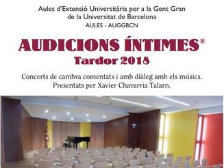 Audicions íntimes a l'Auditori