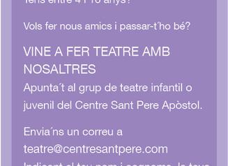 Fes teatre amb nosaltres!