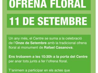 Ofrena floral 11 de setembre