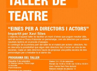Taller de teatre: eines per a directors