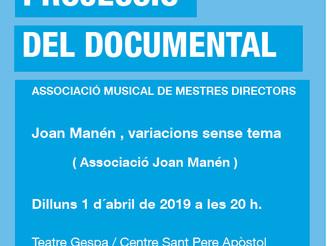 """Projecció del documental """"Joan Manén, variacions sense tema"""""""