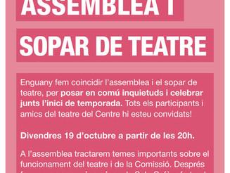 Assemblea i sopar de teatre