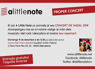 Concert de Nadal de A Little Note