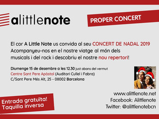 Concert de Nadal de A Little Note
