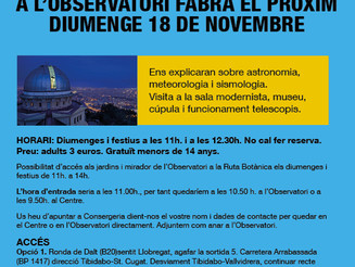 Visita a l'observatori Fabra (ajornat)