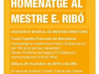 Concert homenatge al mestre Enric Ribó