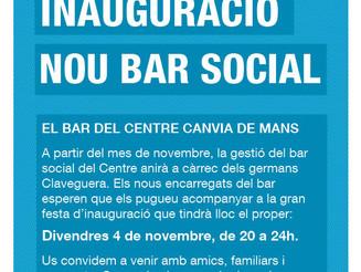Inauguració nou bar social del Centre