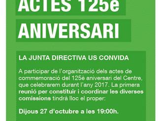 Actes 125è aniversari del Centre