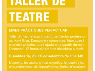 Taller de teatre: noves dates!