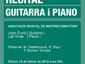 Recital de guitarra i piano