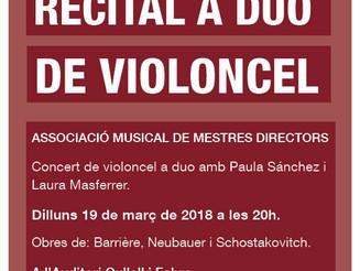 Concert duo de violoncel