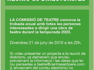 Reunió de directors/es