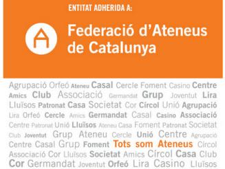Lliurament de plaques de la Federació d'Ateneus
