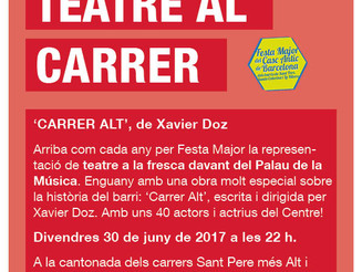 Teatre a la fresca: 'Carrer Alt'